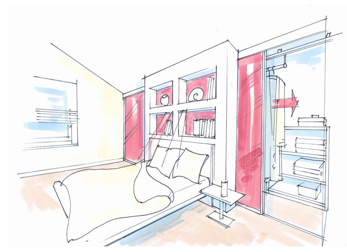 schrankraum hinter dem bett. Black Bedroom Furniture Sets. Home Design Ideas